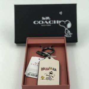 Coach Snoopy & Woodstock Hang Tag/ Key Chain